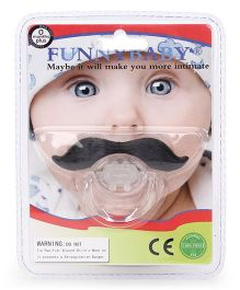 Funny Baby Pacifier - White