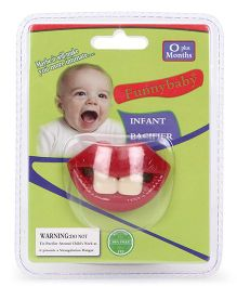 Funny Baby Infant Pacifier - Red