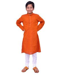 Kilkari Full Sleeves Kurta Pajama Set - Orange