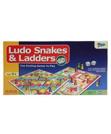 Sunny Ludo And Snakes & Ladder Multicolor -  15 inches