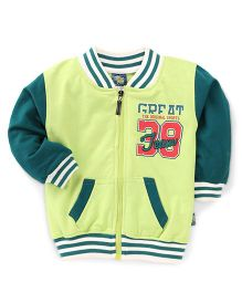 Cucu Fun Full Sleeves Printed Sweat Jacket - Green