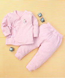Gigilily Tie Knot Tee & Pant Set - Pink