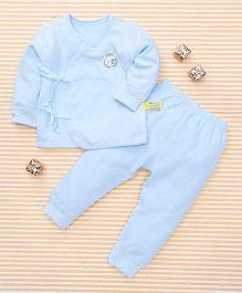 Gigilily Tie Knot Tee & Pant Set - Sky Blue