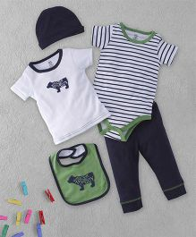 Yoga Sprout Multi Piece Set - White Green Blue