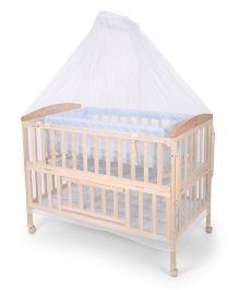 Mee Mee Baby Cot With Mosquito Net - Blue
