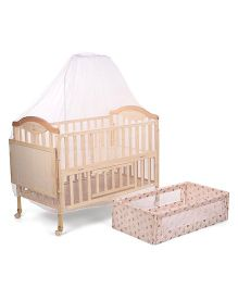 Mee Mee Baby Cot With Mosquito Net - Cream