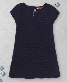 Boutchou Half Sleeves Dress -  Navy Blue