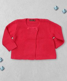 Boutchou Full Sleeves Baby Sweater - Red