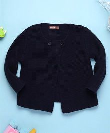 Boutchou Full Sleeves Baby Sweater - Blue