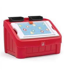 Step2  2 In 1 Toy Box & Art Lid - Red