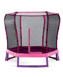 Plum Junior Jumper Trampoline With Enclosure  - Pink Purple
