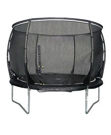 Plum Magnitude 8 Feet Trampoline And Enclosure - Black
