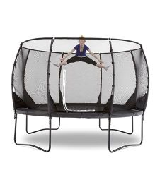 Plum Magnitude 14 Feet Trampoline And Enclosure - Black