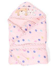 Mee Mee Blanket Rabbit Face Print - Pink