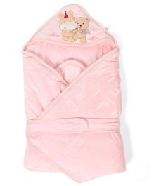 Mee Mee Blanket Alpahbet Print - Pink