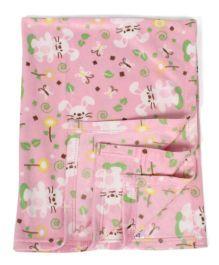 Mee Mee Blanket Rabbit Print - Pink