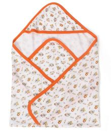 Mee Mee Wrapper Animal Print - Orange