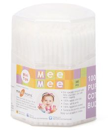 Mee Mee Cotton Ear Buds Mini Tips - 240 Pieces