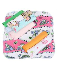 Mee Mee Multi Print Napkins Pack Of 8 (Color May Vary)