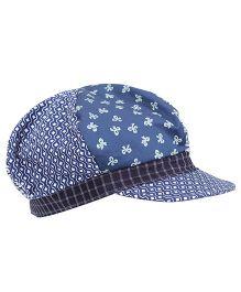 Boutchou Floral Printed Cap - Blue