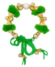 Miss Diva Traditional Pompom Bracelet - Green