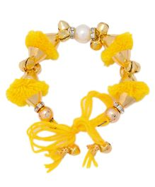 Miss Diva Traditional Pompom Bracelet - Yellow