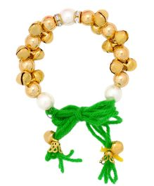 Miss Diva Traditional Ghungroo Bracelet - Green