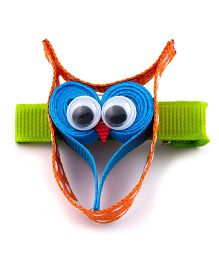 Ribbon Candy Owl Alligator Pins - Orange & Blue