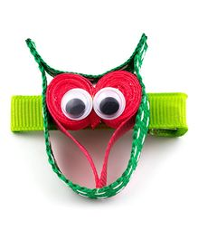 Ribbon Candy Owl Alligator Pins - Green & Pink