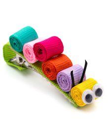 Ribbon Candy Caterpillar Alligator Clip - Multicolour