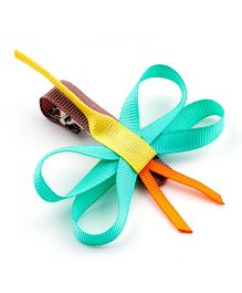 Ribbon Candy Dragonfly Alligator Pin - Multicolour