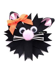 Ribbon Candy Kitty Alligator Pin - Black Pink
