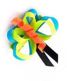 Ribbon Candy Butterfly Alligator Clip - Blue & Green