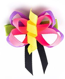 Ribbon Candy Butterfly Alligator Clip - Pink & Purple