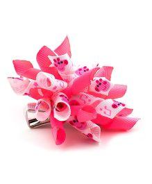 Ribbon Candy Piggy Korker Clip - Pink