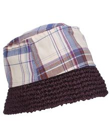 Boutchou Checkered Print Cap - Multicolour