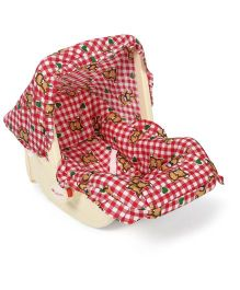 Infanto Babylove Carry Rocker Bear And Heart Print - Red