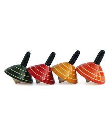 Aatike Wooden Buguri Multicolor - Set of 4
