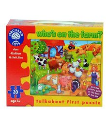 Orchard Who's On The Farm Puzzle - 20 Pieces