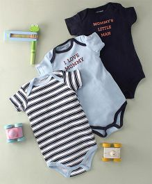 Luvable Friends I Love Mommy Print - Blue