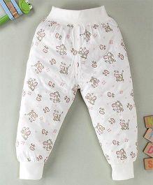 Debao Cow Printed Leggings - White