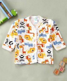 Debao Animal Printed Shirt - White