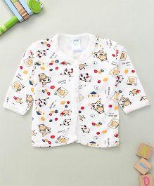 Debao Printed Baby Top - White