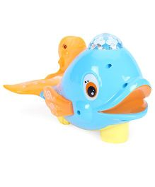 Smiles Creation Naughty Whale Electric Flash Toy - Blue