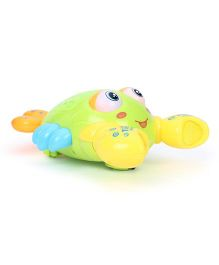 Smiles Creation Electrical Crab With Light - Green Yellow