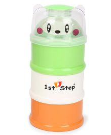 1st Step 3 Way Milk Powder Container Green Orange White (Style May Vary)