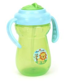 1st Step 2 Handle Cup With Straw Sipper - Green