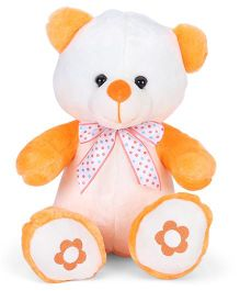 Dimpy Stuff Teddy Bear Soft Toy Orange & Off White - 30 cm