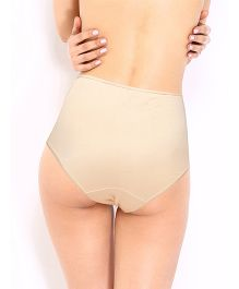 Red Rose Maternity Brief - Beige