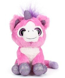 Keel Sparkle Eye Unicorn Soft Toy Pink - 14 cm
